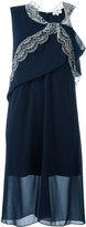 Carven flared asymmetric dress - women - Polyester/Acetate/Silk - 38