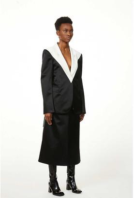 Hyun Mi Nielsen Single-breasted two-tone cotton-silk blend blazer