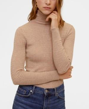 MANGO Combined High Collar Sweater
