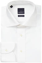 Daniel Hechter Jacquard Cotton Tailored Fit Shirt, White