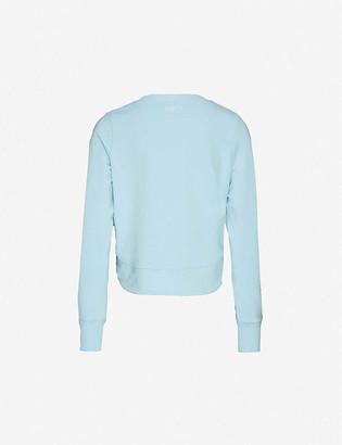 Lorna Jane Throw Over logo-print stretch-jersey sweatshirt