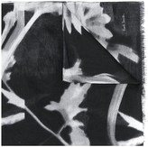 Paul Smith Floral-Print Fringed Scarf