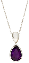 EWA 9ct White Gold Teardrop Pendant Necklace