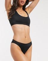 Monki Tanga recycled mix & match bikini brief in black