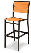 Polywood Euro Bar Height Patio Dining Side Chair - Bronze Frame