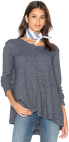 Wilt Shifted Crew Trapeze Long Sleeve Top