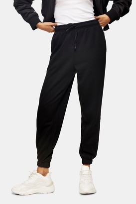 Topshop Womens Black Oversized Joggers - Black
