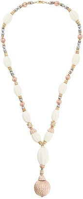Christian Dior Pre-Owned oval beads necklace