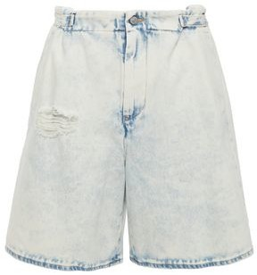 MM6 MAISON MARGIELA Bleached Distressed Denim Shorts