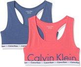 Calvin Klein Girl's 2 Bralette Bustier,(Manufacturer Size: 14-16) pack of 2
