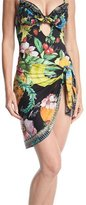 Camilla Tropical-Print Short Sarong Swim Coverup