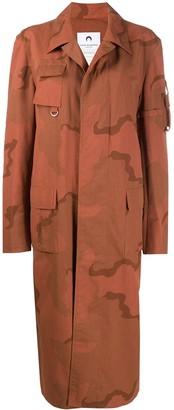 Marine Serre Camouflage Print Long Coat