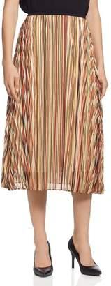 T Tahari Striped Midi Skirt
