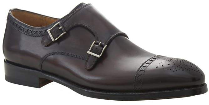 Magnanni Villar Double Buckle Monk Shoe