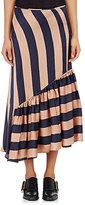 Stella McCartney Women's Georgette Asymmetric Skirt-NAVY