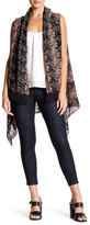 David & Young Lace Inset Floral Tunic Wrap