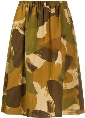 YMC Camouflage Print Skirt
