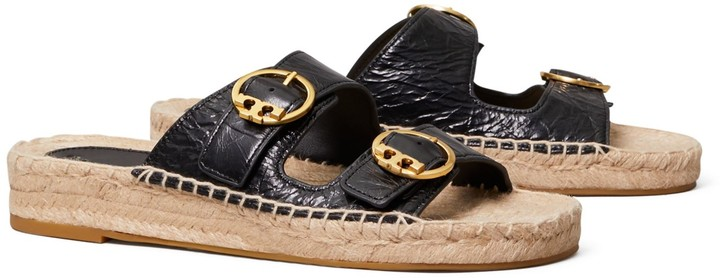 Tory Burch Selby Two-Band Espadrille Slide