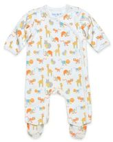 Under the Nile Organic Cotton Size 6-9M Safari Side-Snap Footie