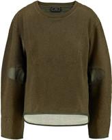 By Malene Birger Asilla faille-paneled cotton-terry sweatshirt