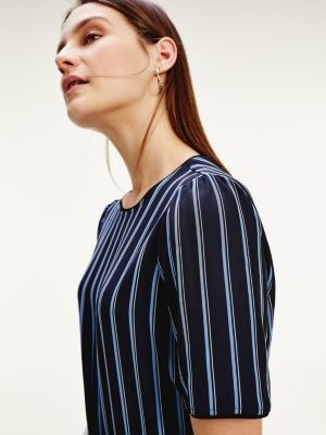 Tommy Hilfiger Stripe Short Sleeve Dress