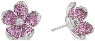 Ri Noor Sakura Pink Sapphire & Diamond Earrings