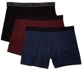 HUGO BOSS 3-Pack Boxer Brief Stretch Cotton Pack (Burgundy/Black/Navy) Men's Underwear