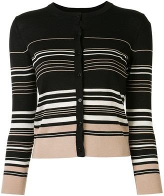 Paule Ka Multi-Stripe Slim Fit Cardigan