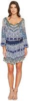 Hale Bob Leisure Lover Rayon Satin Woven Cold Shoulder Dress Women's Dress