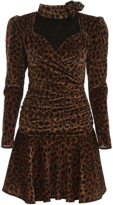 ATTICO Animalier Mini Dress