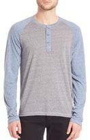Splendid Mills Raglan Sleeve Colorblock Henley Shirt