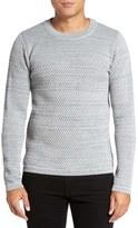 S.N.S. Herning Men's Torso Mixed Stitch Wool Sweater