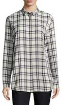Lafayette 148 New York Sabira Blouse with Chain Detail