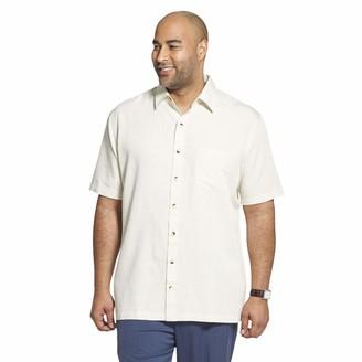 Van Heusen Men's Big Air Short Sleeve Button Down Grid Shirt
