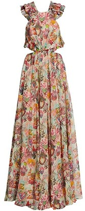 Zimmermann Lovestruck Ruffle Maxi Dress