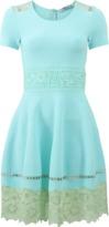Blumarine Knit And Lace Dress