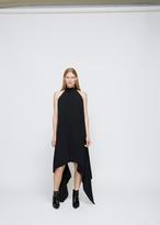 Gareth Pugh Black Crepe Halter Dress