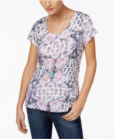 Style&Co. Style & Co Petite T-Shirt, Only at Macy's