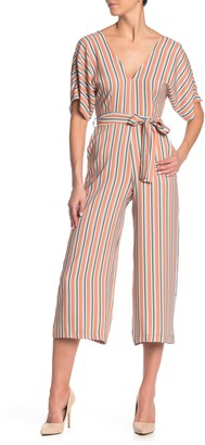 June & Hudson Stripe Tie Back Jumpsuit