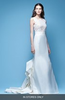 Carolina Herrera 'Josette' Sleeveless Lace & Mikado Mermaid Gown with Origami Fold Train (In Store Only)