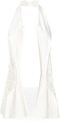 Yohji Yamamoto Pre Owned Panelled Lace Waistcoat