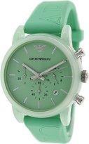 Emporio Armani Women's Classic AR1057 Silicone Quartz Watch