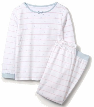 The White Company Scattered Star & Stripe Pyjamas - Aged 3-4 Years White