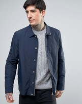 Farah Foster Nylon Shirt Jacket in Navy