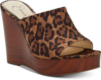 Jessica Simpson Shantelle Slide Wedge Sandals Women Shoes