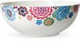 Villeroy & Boch Dinnerware Bone Porcelain Anmut Bloom Medium Round Vegetable Bowl