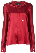 DSQUARED2 spread collar shirt - women - Silk - 40