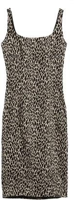 Banana Republic Animal Print Sloan Sheath Dress