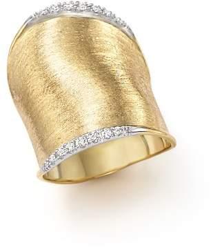 Marco Bicego Diamond Lunaria Large Ring in 18K Yellow Gold