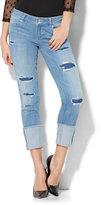 New York & Co. Soho Jeans - High Cuff Boyfriend - Rip & Repair